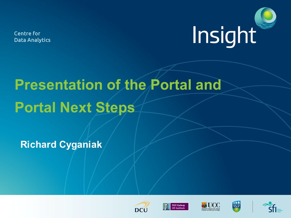 Richard Cyganiak Presentation of the Portal and Portal Next Steps