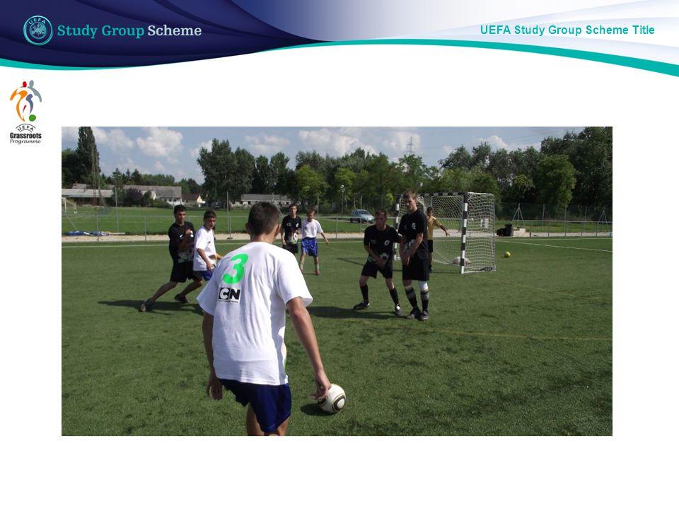 UEFA Study Group Scheme Title The Chance Festival