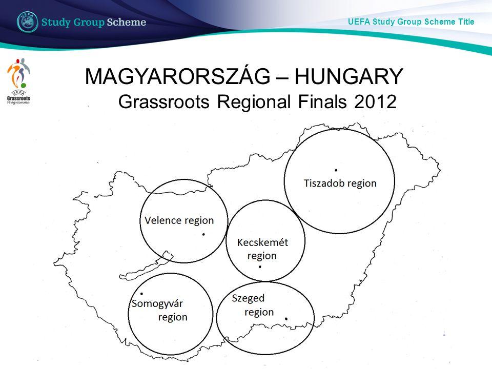 UEFA Study Group Scheme Title MAGYARORSZÁG – HUNGARY Grassroots Regional Finals 2012