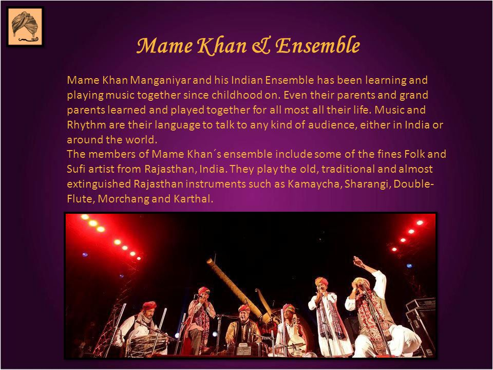 Mame Khan & Fusion Projects