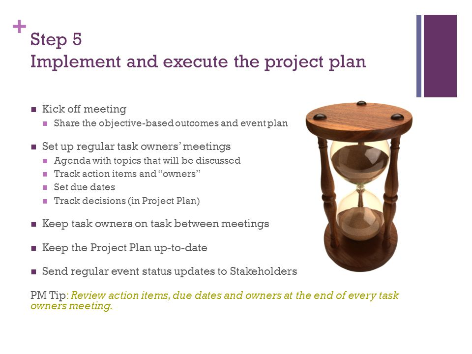 + Step 6 Inspect and measure outcomes Did you accomplish your objective-based outcome(s).