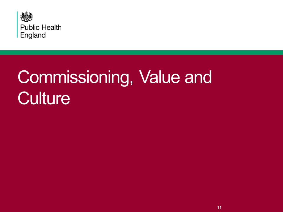 Commissioning, Value and Culture 11
