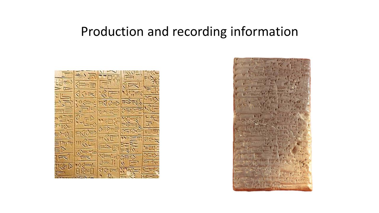 Production and recording information