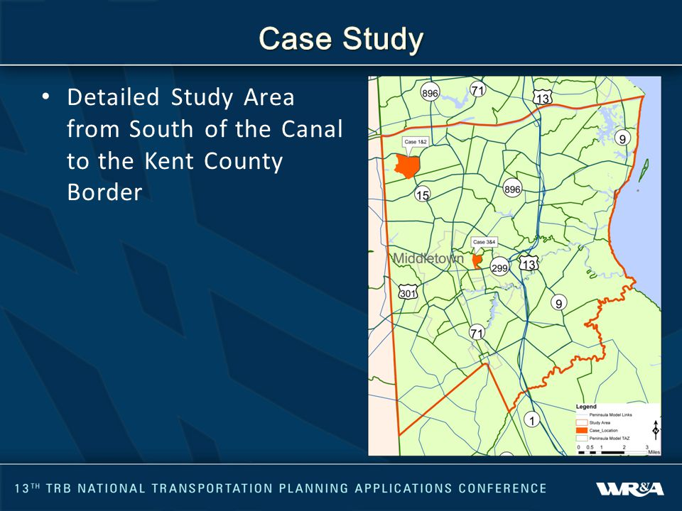 Detailed Study Area from South of the Canal to the Kent County Border