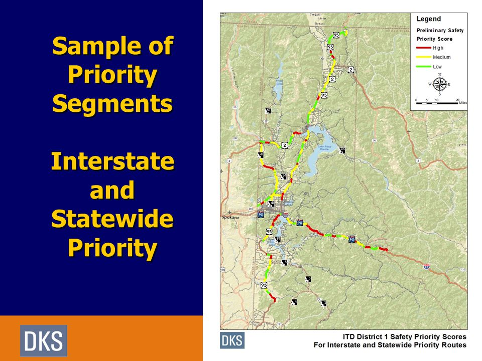 Sample of Priority Segments Interstate and Statewide Priority