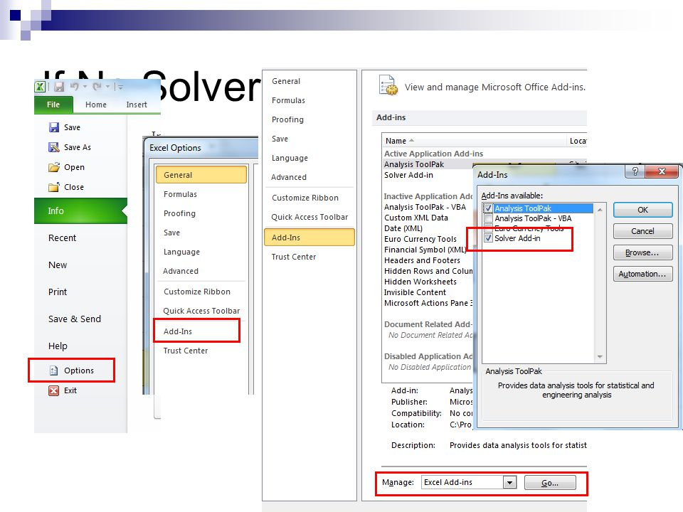 If No Solver, Office2010