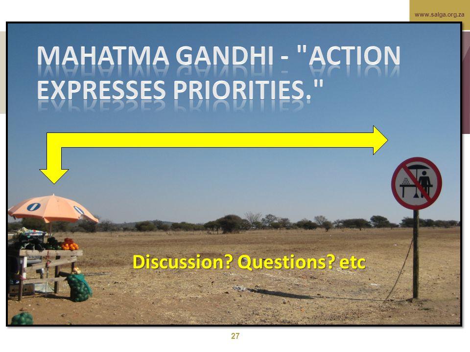www.salga.org.za 27 Discussion Questions etc
