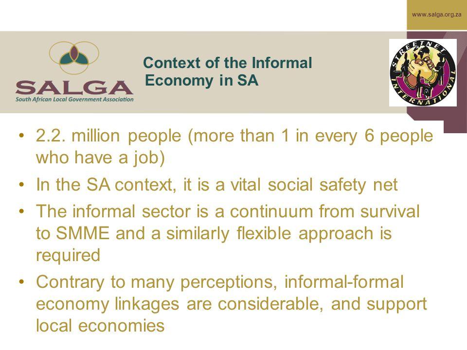www.salga.org.za Context of the Informal Economy in SA 2.2.