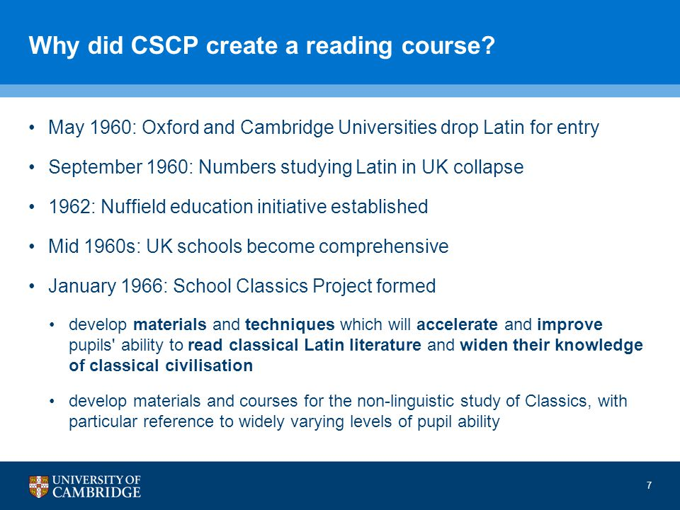 Why did CSCP create a reading course.