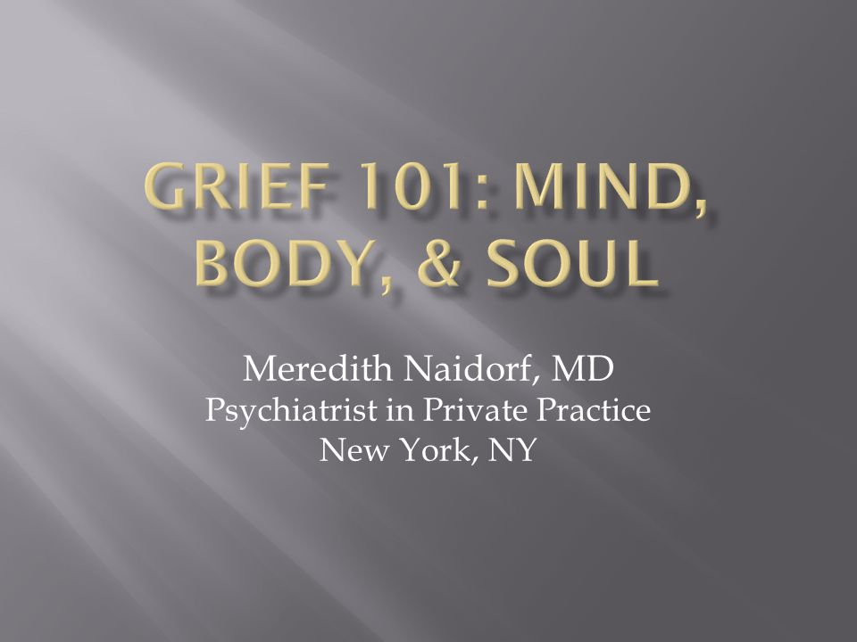 Meredith Naidorf, MD Psychiatrist in Private Practice New York, NY