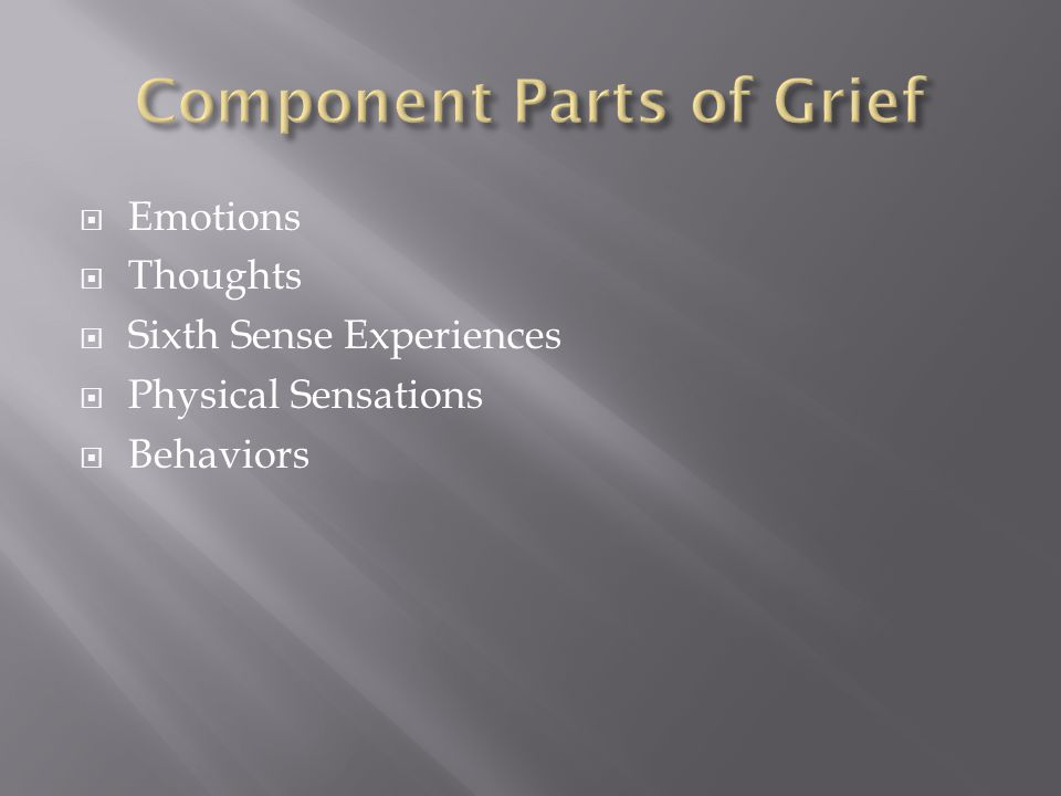  Emotions  Thoughts  Sixth Sense Experiences  Physical Sensations  Behaviors
