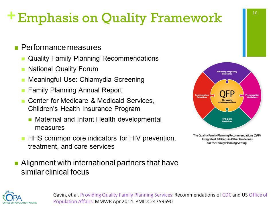 + Emphasis on Quality Framework 10 Gavin, et al.