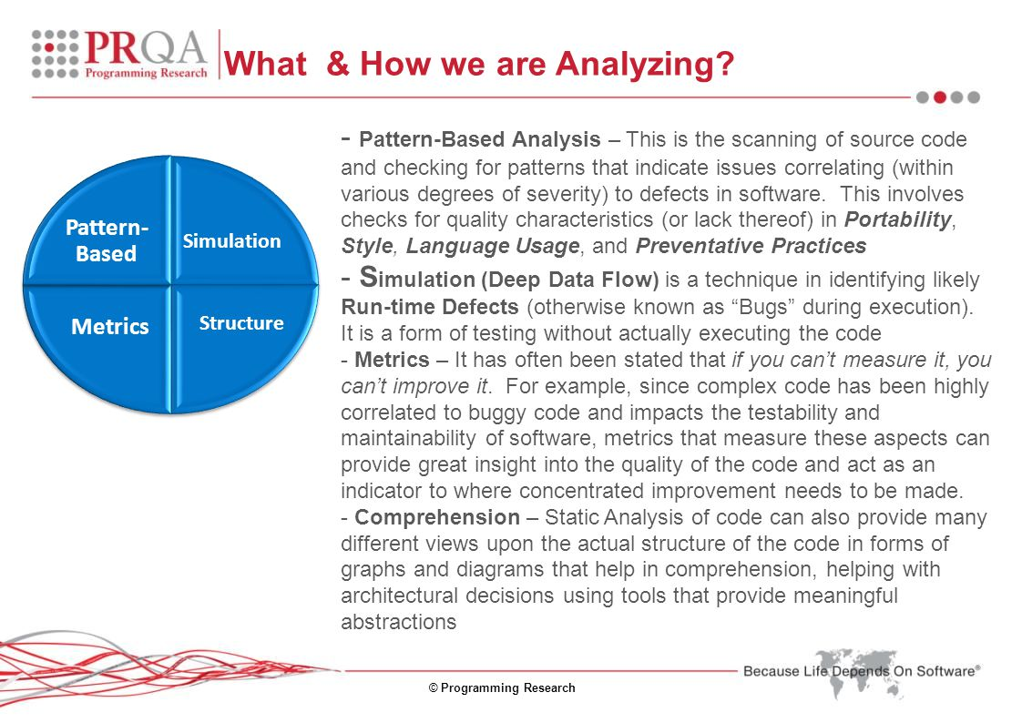 © Programming Research What & How we are Analyzing.