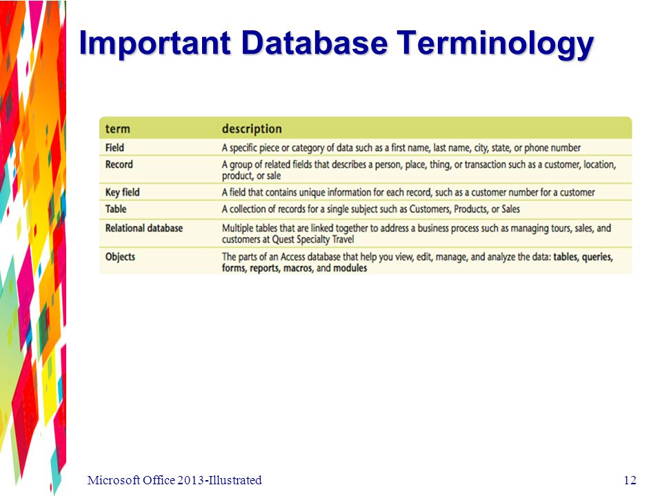 Important Database Terminology Microsoft Office 2013-Illustrated12