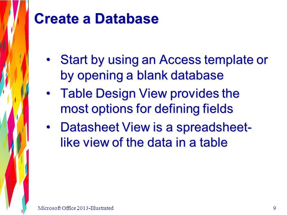 Data Types Microsoft Office 2013-Illustrated10
