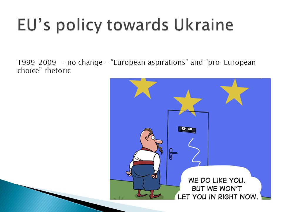1999–2009 - no change – European aspirations and pro-European choice rhetoric