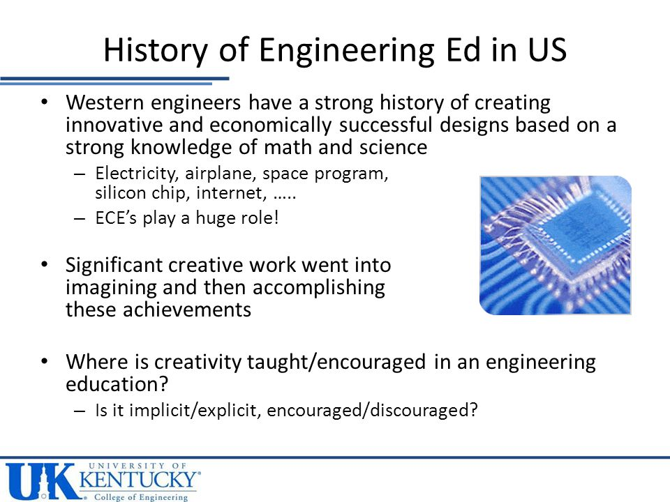Western engineers have a strong history of creating innovative and economically successful designs based on a strong knowledge of math and science – Electricity, airplane, space program, silicon chip, internet, …..