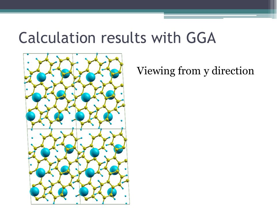 Calculation results with GGA Viewing from y direction