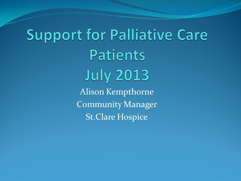 Alison Kempthorne Community Manager St.Clare Hospice