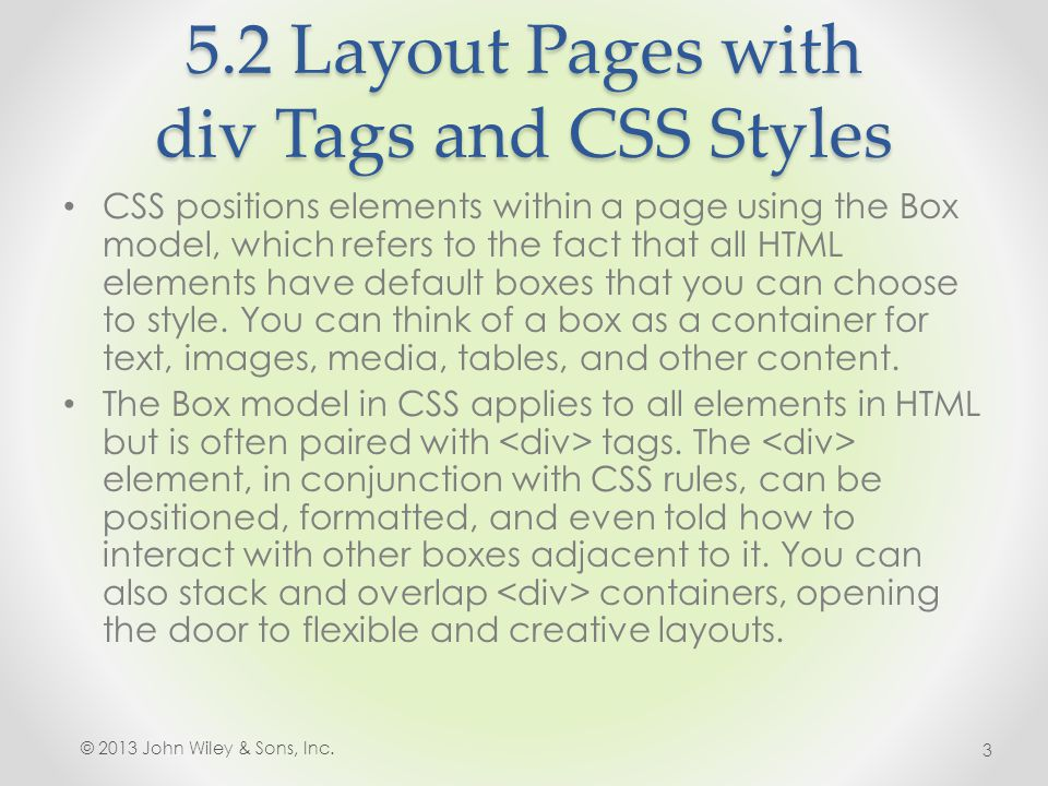 5.2 Layout Pages with div Tags and CSS Styles 4.In the Color category, uncheck Same for all and in both the Top and Bottom fields type #063 (right).