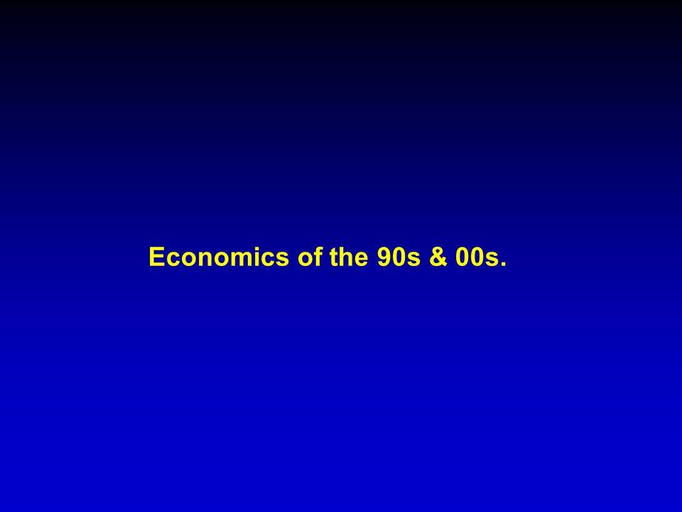 Economics of the 90s & 00s.