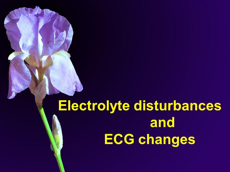 Electrolyte disturbances and ECG changes