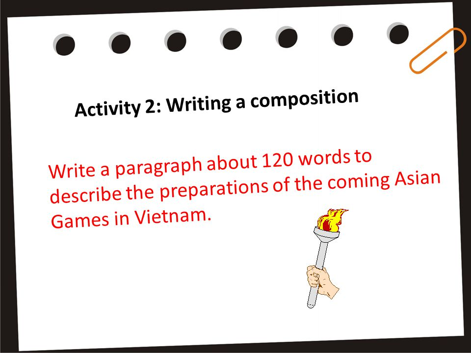 Activity 1: Writing sentences Some suggested sentences: One more national stadium needs to be built.