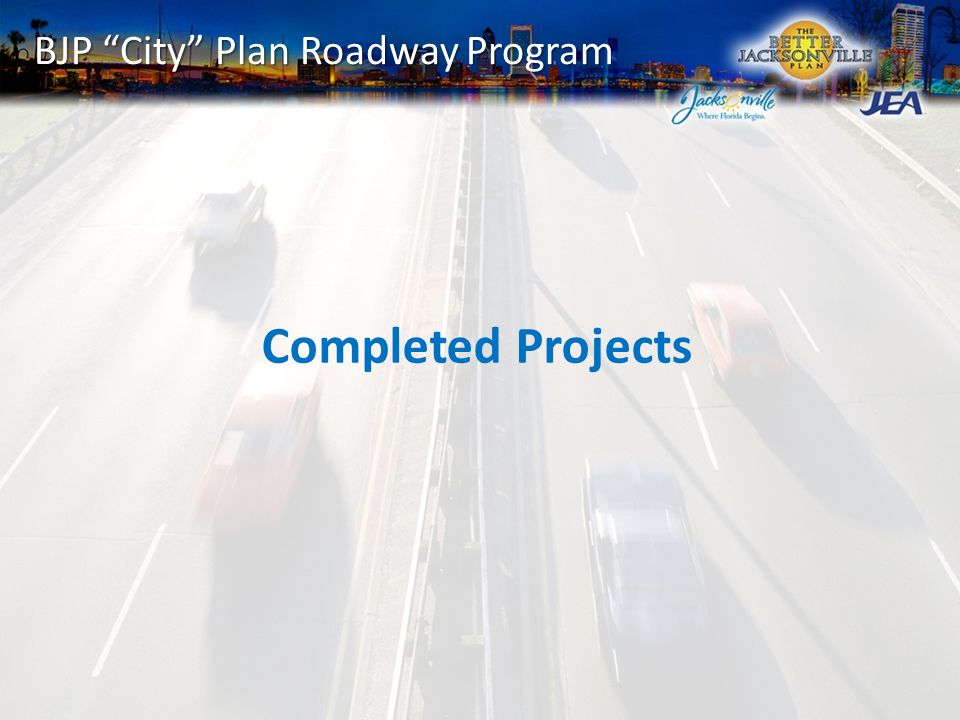BJP City Plan Roadway Program Completed Projects