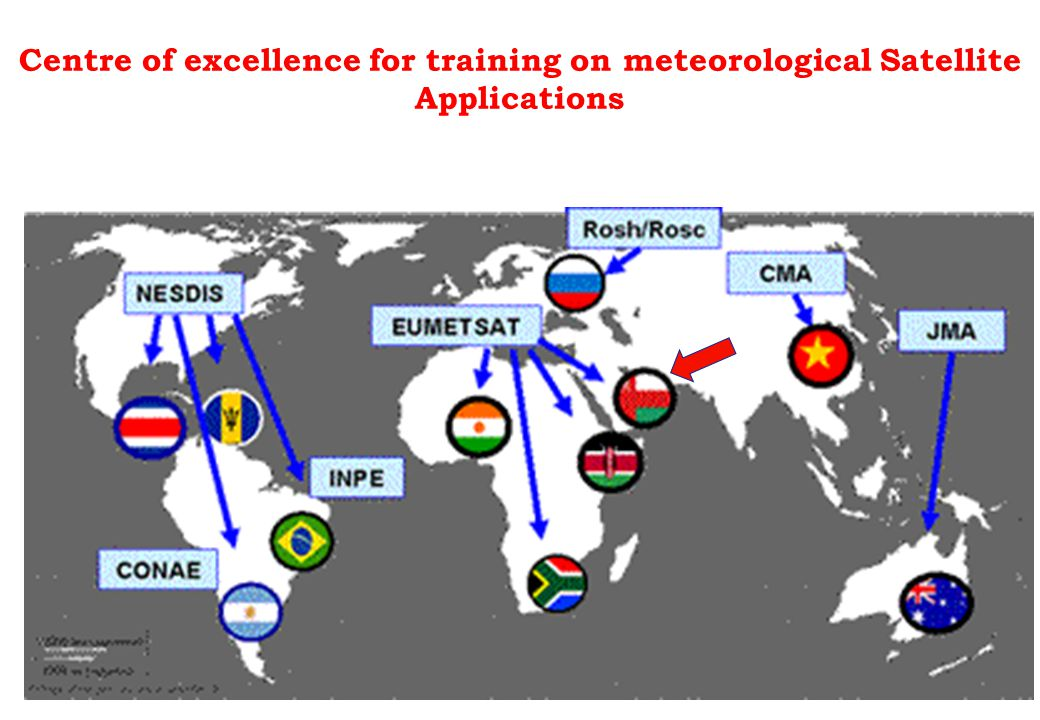 Centre of excellence for training on meteorological Satellite Applications