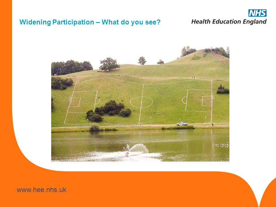 www.hee.nhs.uk Widening Participation – What do you see