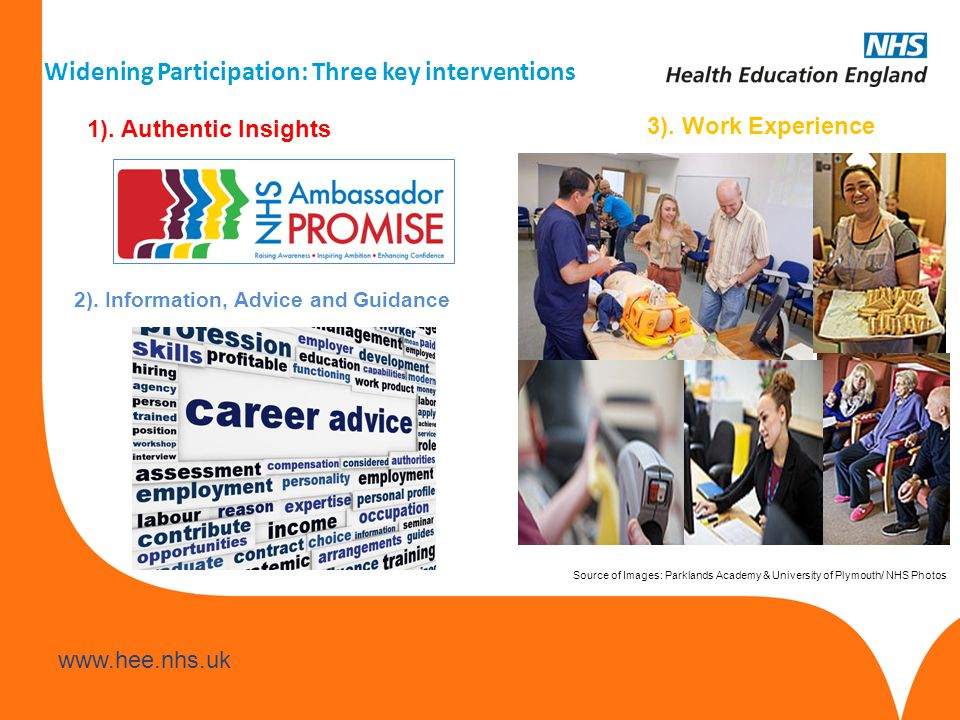 www.hee.nhs.uk Workshop Activity Time: 20 mins 3 Key Questions How can we encourage more bands 1-4 staff to be Ambassadors.