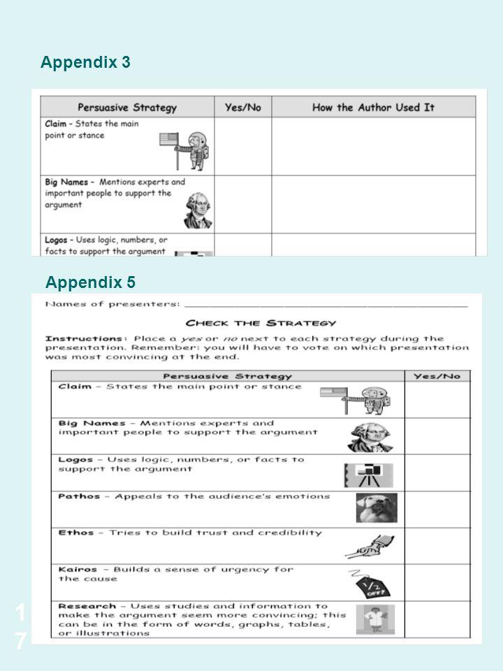 Appendix 3 Appendix 5 17