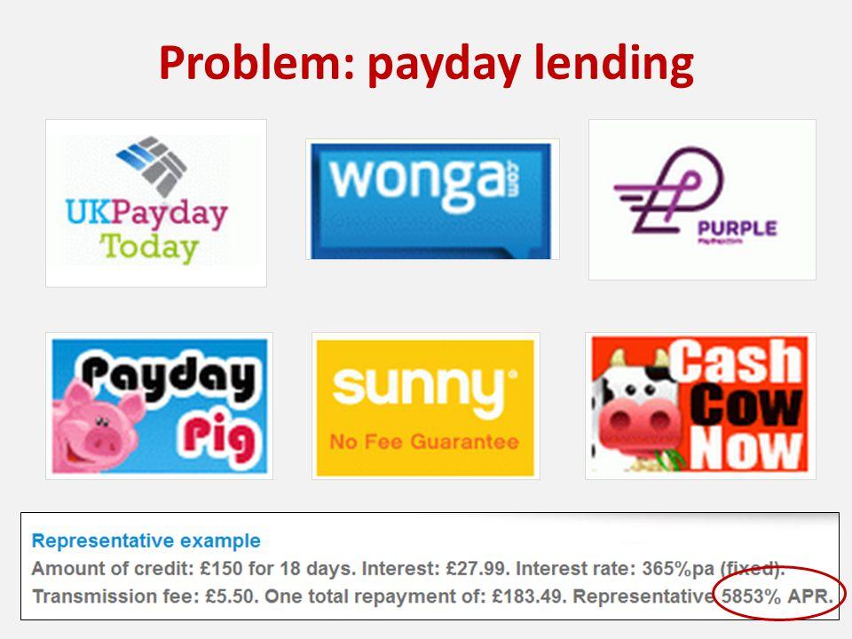 Problem: payday lending