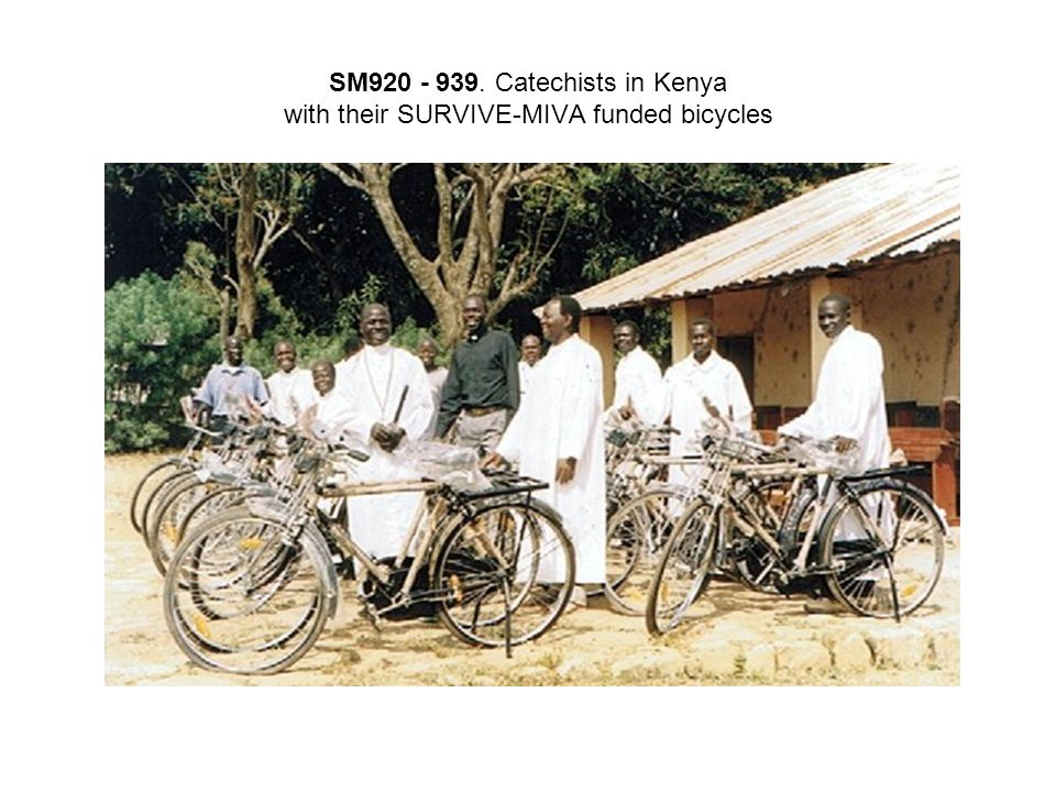 SM920 - 939. Catechists in Kenya with their SURVIVE-MIVA funded bicycles