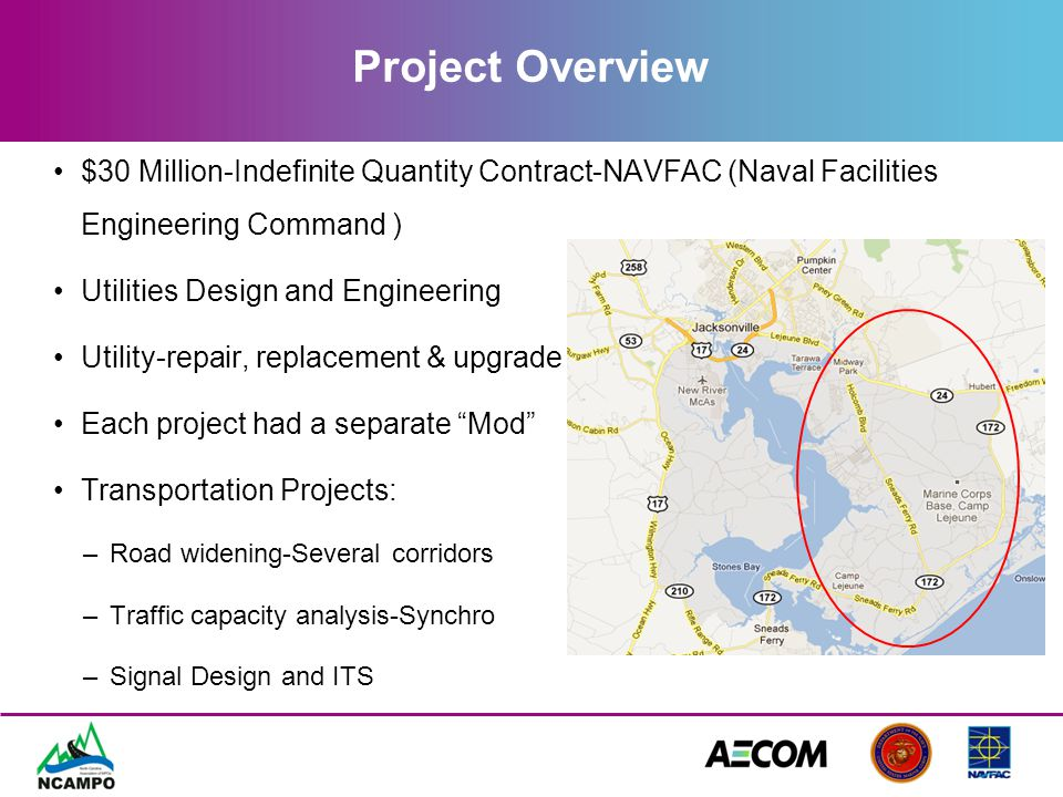 Project Overview $30 Million-Indefinite Quantity Contract-NAVFAC (Naval Facilities Engineering Command ) Utilities Design and Engineering Utility-repa