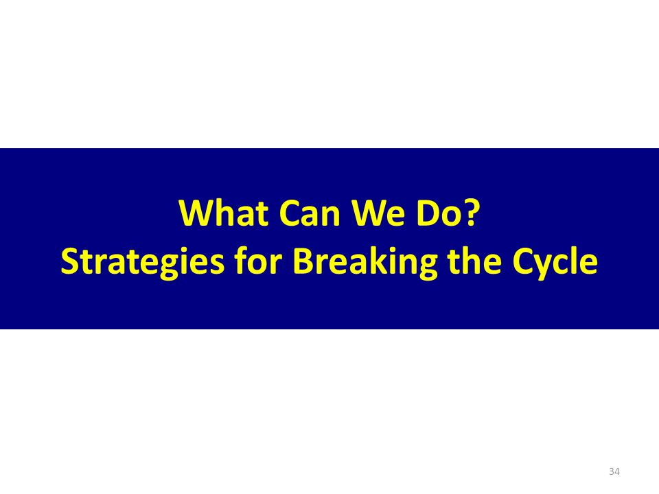 34 What Can We Do Strategies for Breaking the Cycle