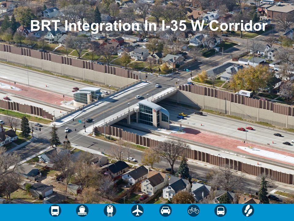 BRT Integration In I-35 W Corridor