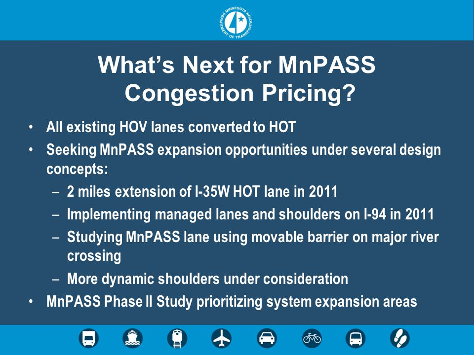 What's Next for MnPASS Congestion Pricing.