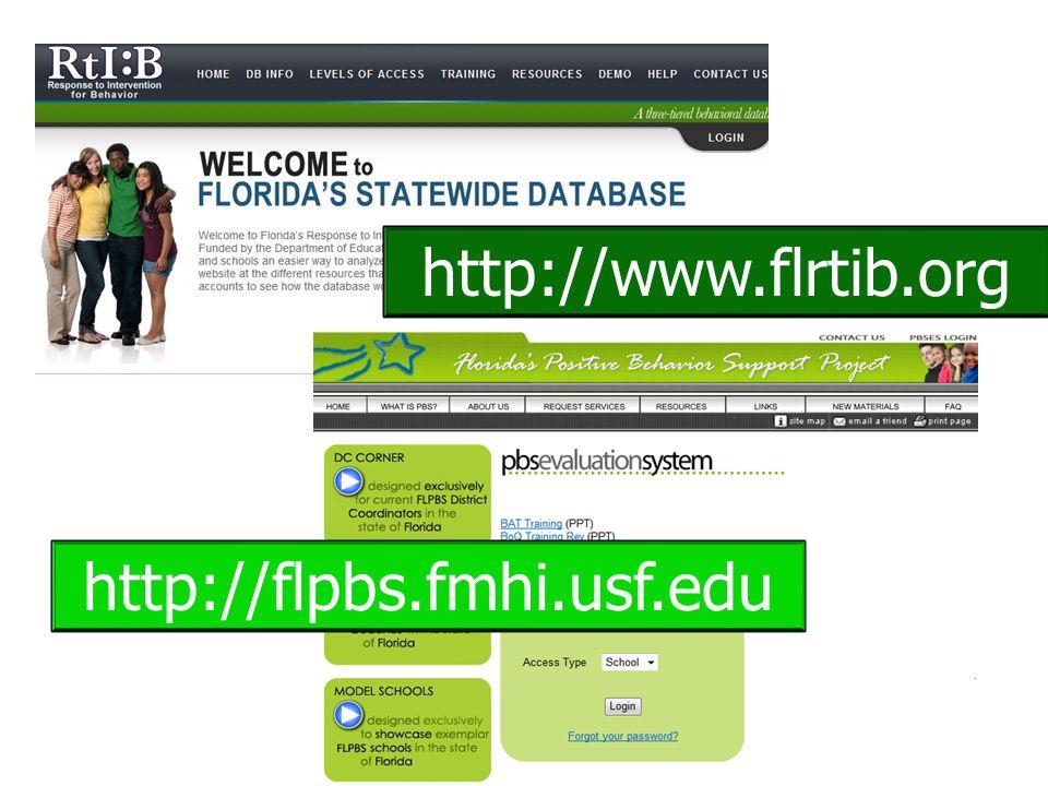 http://www.flrtib.org http://flpbs.fmhi.usf.edu