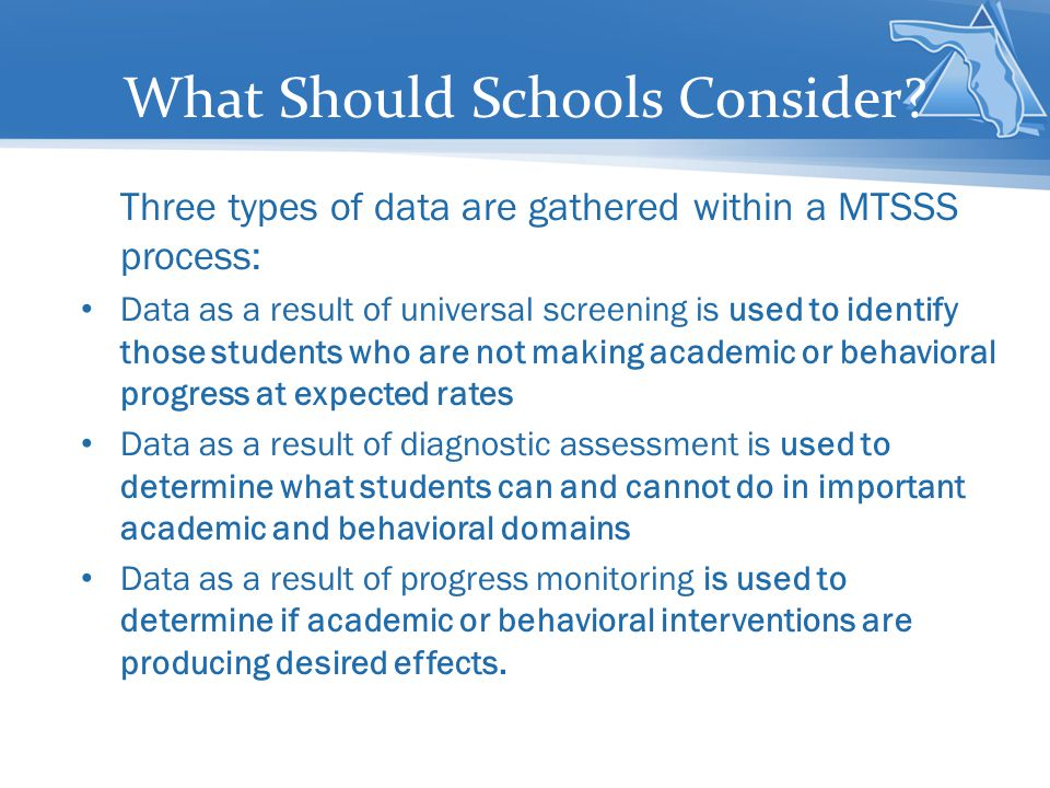 What Should Schools Consider.