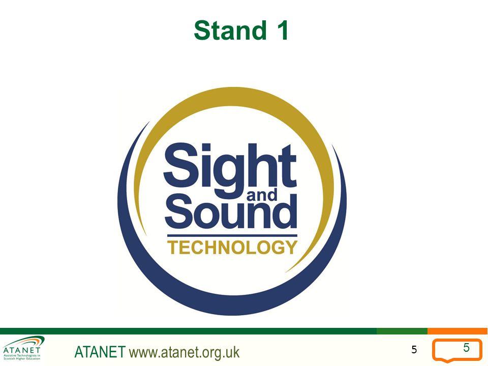 ATANET www.atanet.org.uk 5 Stand 1 5