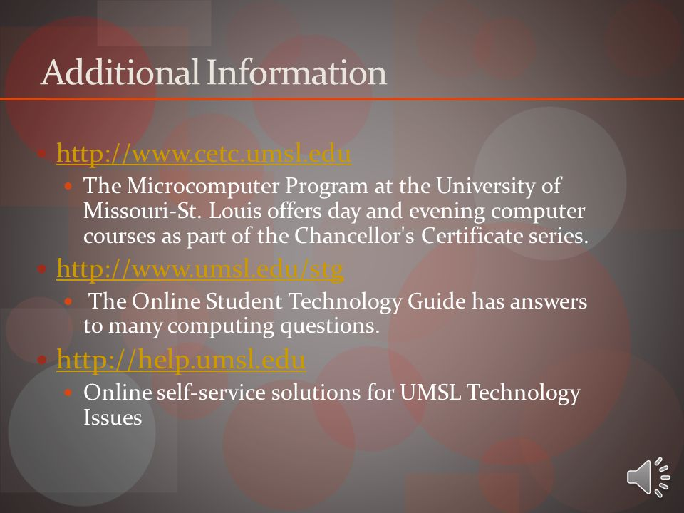 Questions? If any further questions arise, please contact a lab consultant in any of the following Instructional Computing Labs. SSB 103 SSB 452 Bento