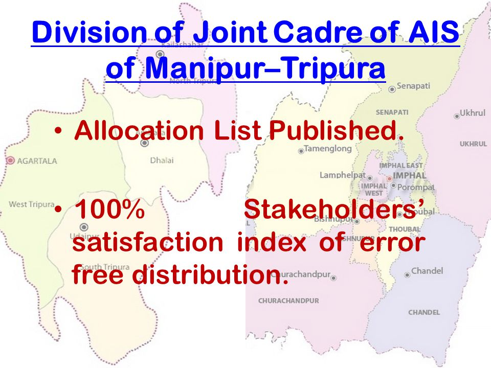 Division of Joint Cadre of AIS of Manipur–Tripura Allocation List Published.