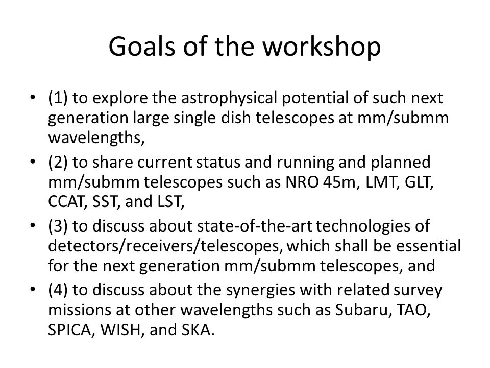 So many large single dish projects .Showing the richness of science cases, and...
