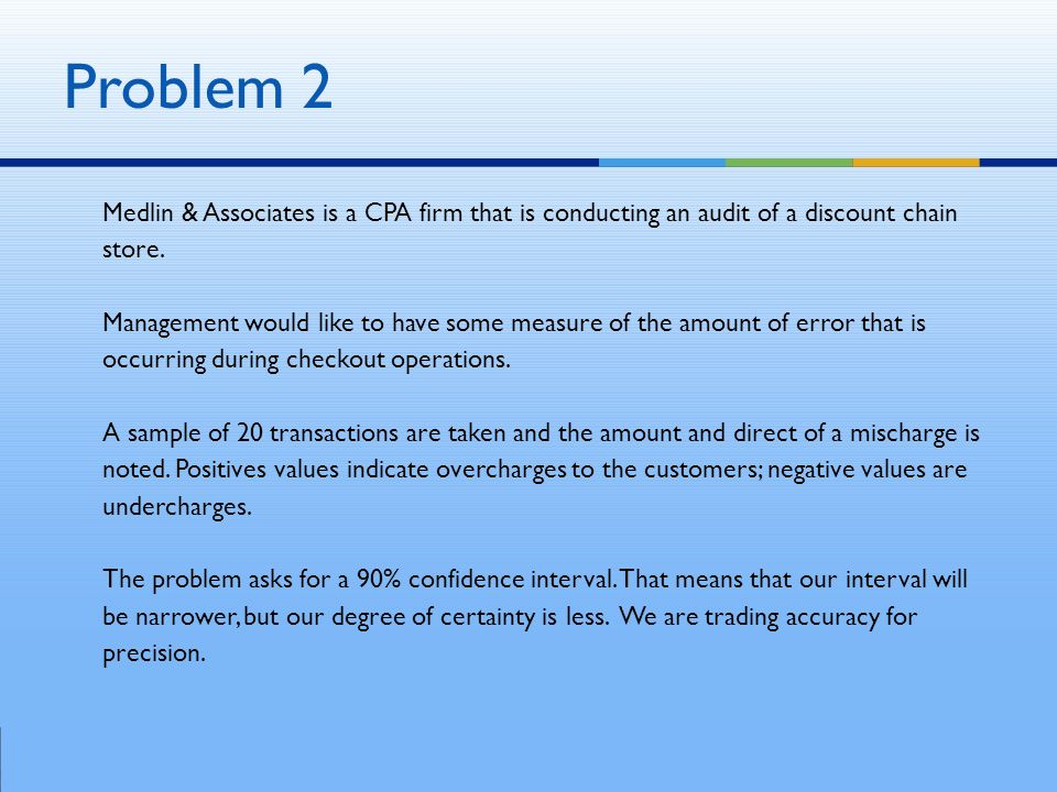 Medlin & Associates is a CPA firm that is conducting an audit of a discount chain store.