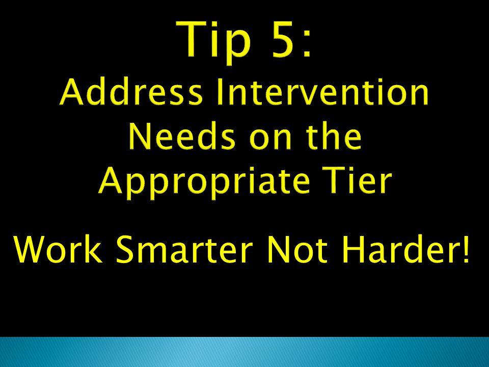 Work Smarter Not Harder!