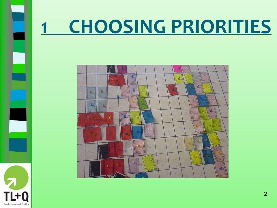 1CHOOSING PRIORITIES 2