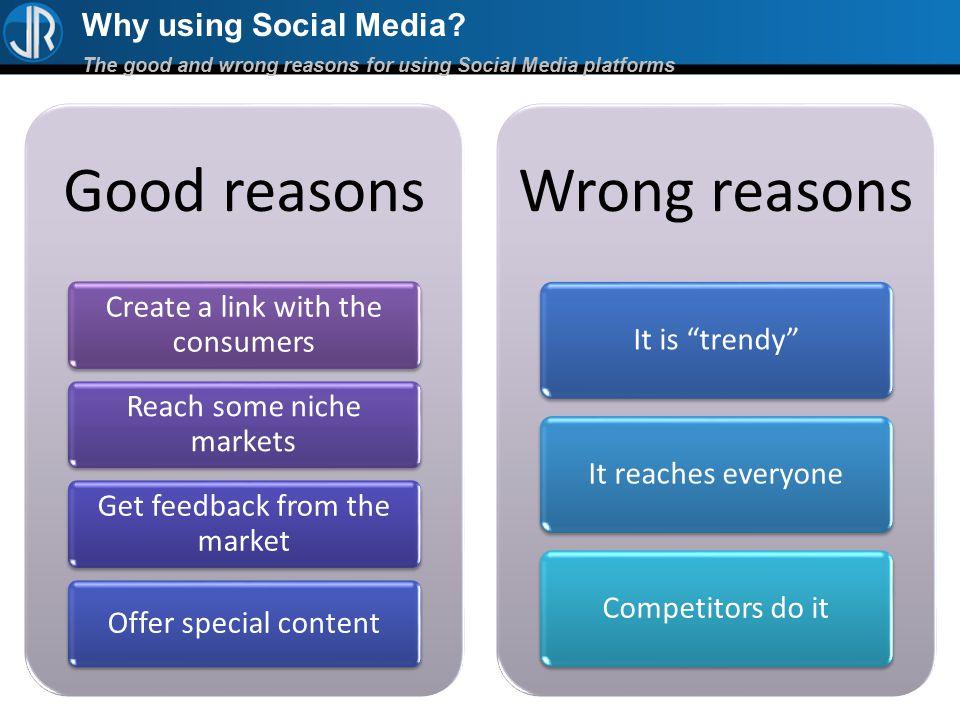 Why using Social Media.