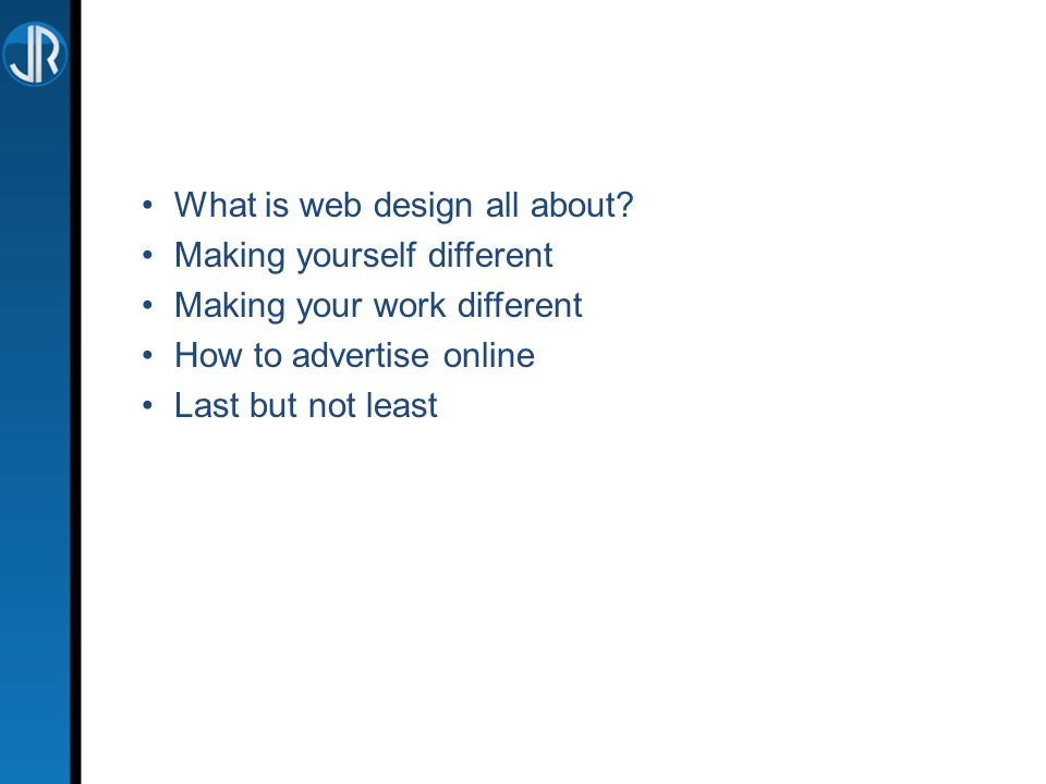 What is web design all about.