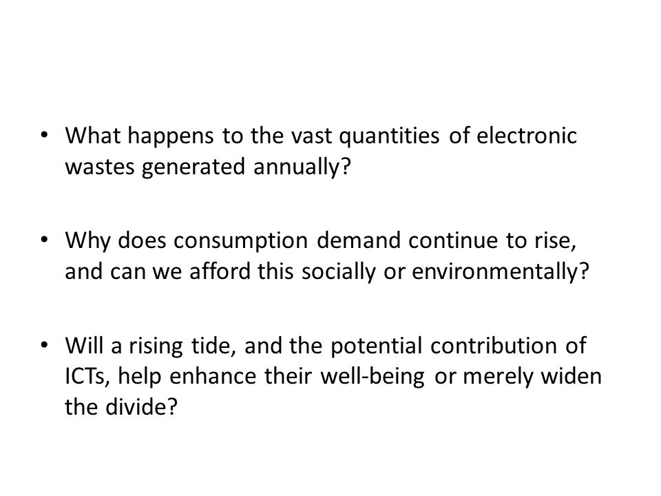 What happens to the vast quantities of electronic wastes generated annually.